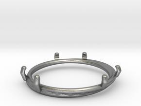 Double ring moebius bi metal   8 3/4 in Natural Silver