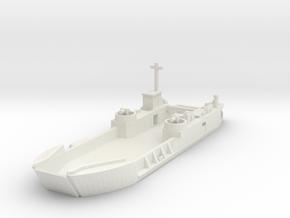 1/285 Scale LCT6 in White Natural Versatile Plastic