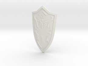 """BotW"" Royal Shield in White Natural Versatile Plastic: 1:12"