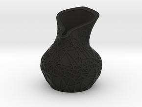 Lily Vase in Black Natural Versatile Plastic