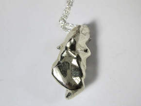 Frontal Lobe Charm (Broca's area) in Polished Silver