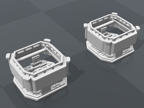 DeAgo Millennium Falcon Maintenance pits ver. B in White Strong & Flexible Polished