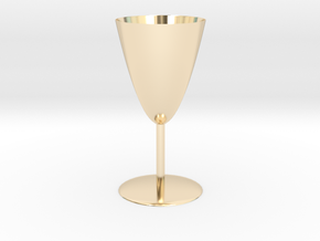 Goblet in 14k Gold Plated Brass