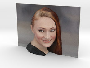 3D Photo of Sophie Turner ready for 3d print in Full Color Sandstone