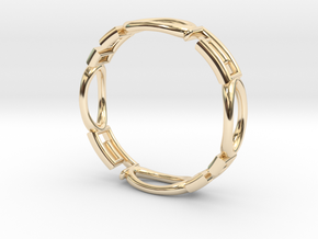 Shapes  R-001 in 14K Yellow Gold