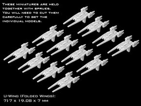 (Armada) 12x U-Wing (Folded Wings) in Smooth Fine Detail Plastic