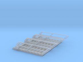 1:72 3x Stairs 10 in Smooth Fine Detail Plastic