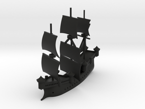 "Mystery Ship ""Cathedral Skhara"" in Black Natural Versatile Plastic: 1:1000"