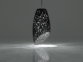 Pendant Lamp Shade in Black Natural Versatile Plastic