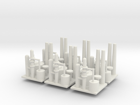 Oil Refinery Set Of 6 in White Natural Versatile Plastic