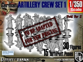 1-350 German Arty Crew Set 1 in Transparent Acrylic
