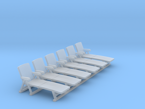 Deck Chair 01. HO Scale (1:87) in Frosted Ultra Detail
