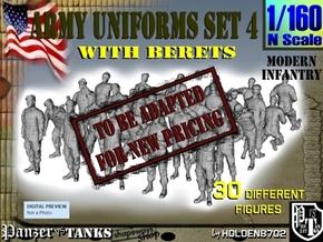 1-160 Army Modern Uniforms Set4 in Transparent Acrylic