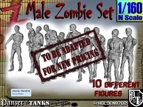 1-160 Male Zombie Set in Transparent Acrylic