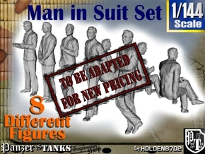 1-144 Man In Suit SET in Transparent Acrylic