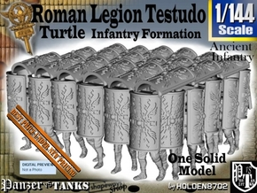 1-144 Roman Testudo in Smooth Fine Detail Plastic