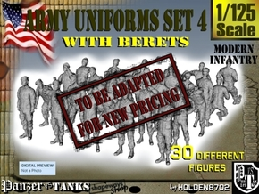 1-125 Army Modern Uniforms Set4 in Transparent Acrylic