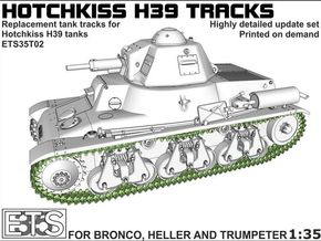 ETS35T02 Hotchkiss H39 Tracks [1:35] in Smoothest Fine Detail Plastic