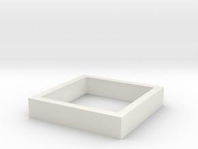Parkhecke quadratisch (Buchsbaum) 1:120 in White Natural Versatile Plastic