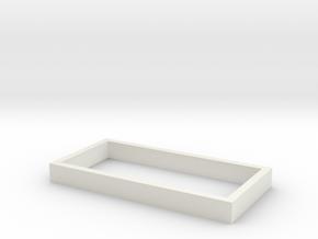 Parkhecke rechteckig (Buchsbaum) 1:120 in White Natural Versatile Plastic