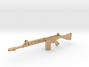FN FAL 1:18 scale in Natural Bronze