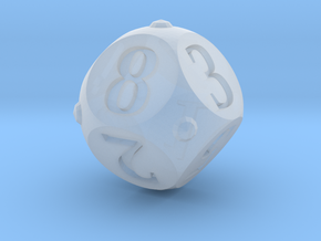 Round Roller Dice in Smooth Fine Detail Plastic: d8