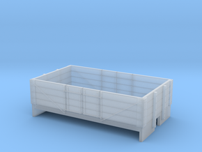OO9 4 plank open wagon  in Smooth Fine Detail Plastic