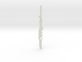 """BotW"" Guardian Sword+ in White Natural Versatile Plastic: 1:12"