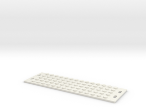 Lego-style Blind Panel in White Natural Versatile Plastic