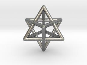 Merkaba Star Tetrahedron Pendant in Natural Silver