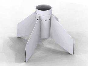 Astrobee1500 fin-unit for ST-20 tube for 24mm motr in White Strong & Flexible