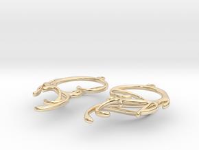 Melting Curl Earrings in 14k Gold Plated Brass