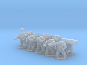 Warplate Squad 2 (alt poses- based) in Smooth Fine Detail Plastic