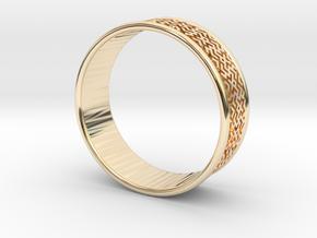 Wedding ring Slavic style in 14K Yellow Gold: 11 / 64