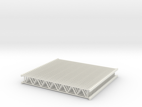 Lattice girder 01. HO Scale (1:87) in White Natural Versatile Plastic