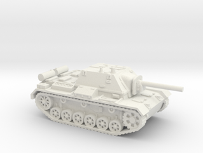SU - 76i tank (Russian) 1/87 in White Natural Versatile Plastic