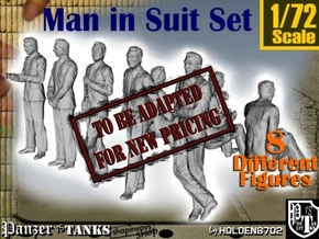 1-72 Man In Suit SET in Transparent Acrylic