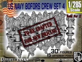 1-285 US Navy Bofors Crew Set 4 in Transparent Acrylic