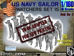 1-160 US Navy Watchers Set15 in Transparent Acrylic