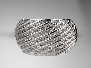 Baumann Ring in Raw Silver