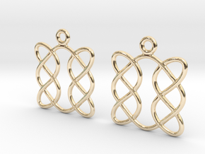 Celtic Weave Earrings - WE005 in 14k Gold Plated Brass