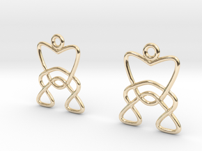 Celtic Weave Earrings - WE006 in 14k Gold Plated Brass