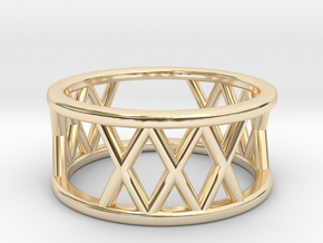 XXX Ring Size-4 in 14K Yellow Gold