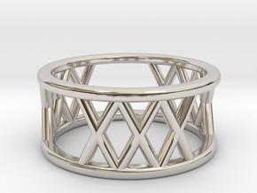 XXX Ring Size-4 in Platinum