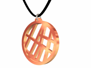 #2 - Map Petite - Rose Gold Pleated in 14k Rose Gold Plated Brass