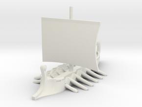 1/700 Short Trireme (1-piece) in White Natural Versatile Plastic