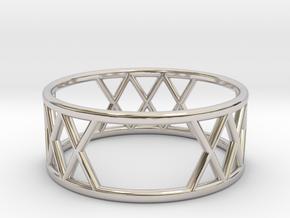 XXX Ring Size-7 in Platinum
