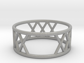 XXX Ring Size-7 in Aluminum