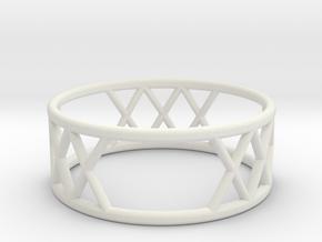 XXX Ring Size-8 in White Natural Versatile Plastic