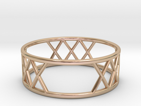 XXX Ring Size-10 in 14k Rose Gold